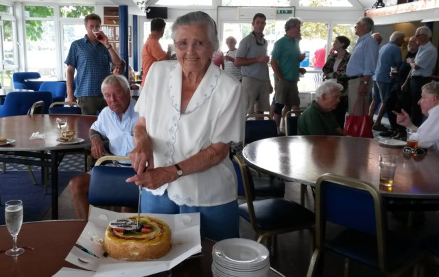 Tamesis members celebrate Peggy's 93rd birthday