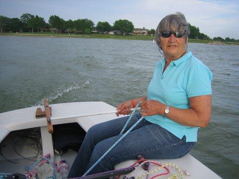 Sue Harris goes sailing in Dallas