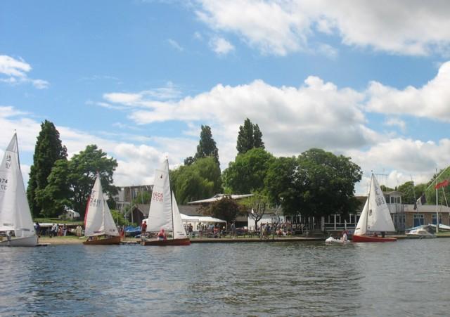 Visitors enjoy Push the Boat Out sailing