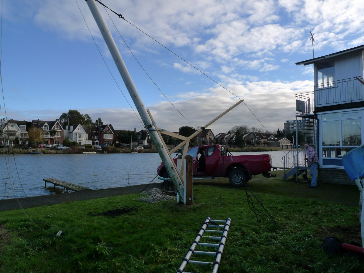 Replacing the old flag pole