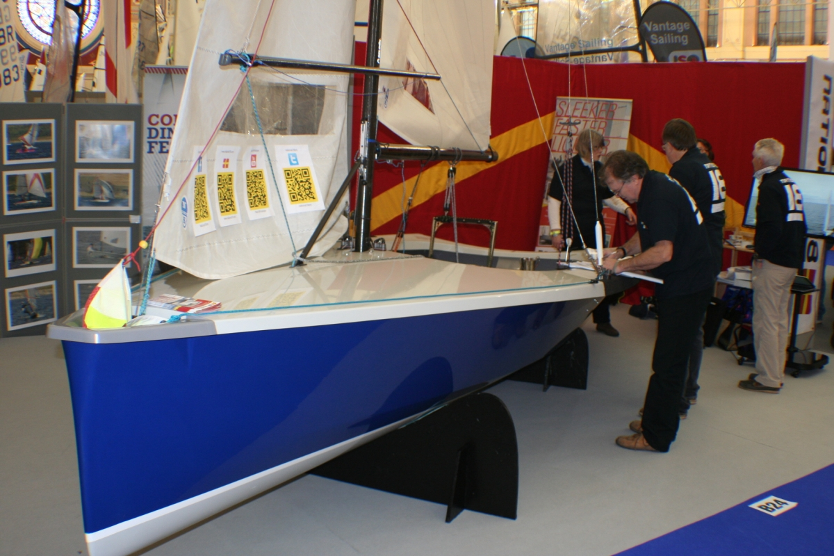 New National 18 at RYA Dinghy Show