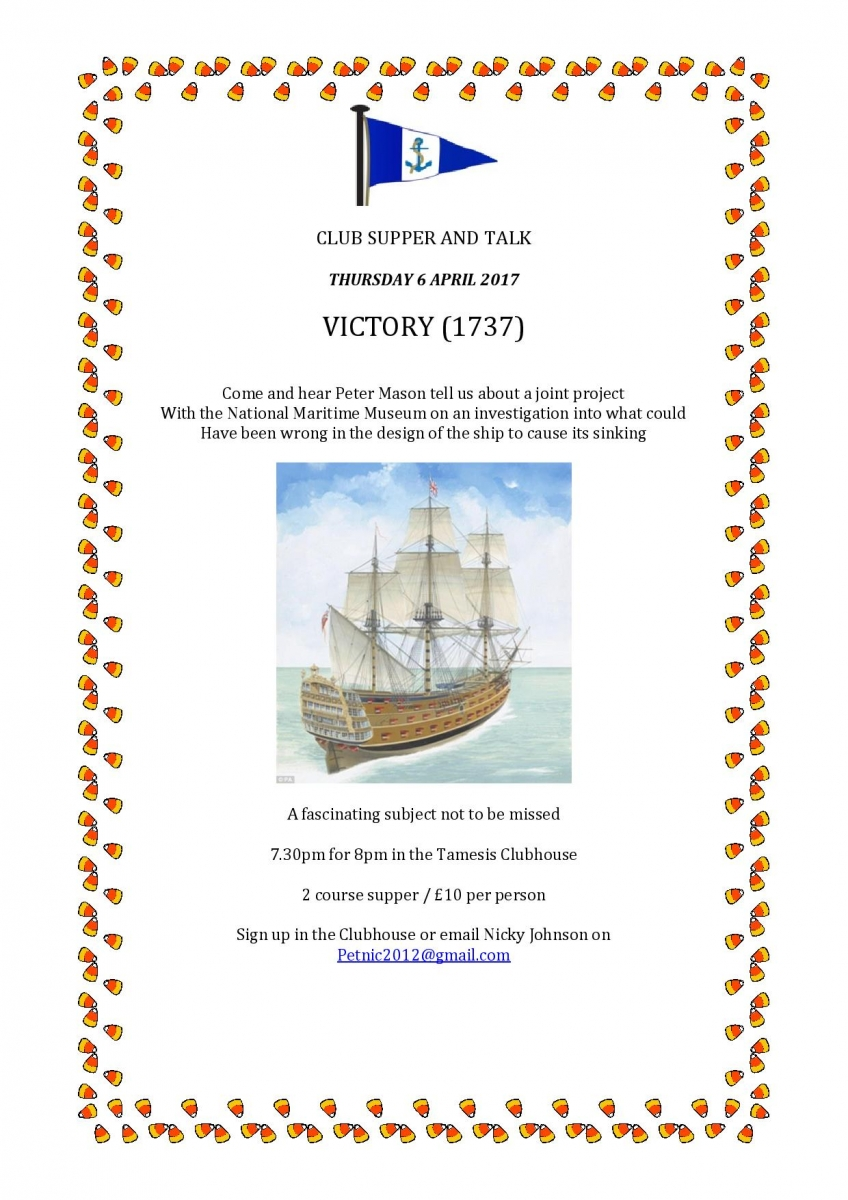 Peter Mason fascinates with talk on the first 'Victory'