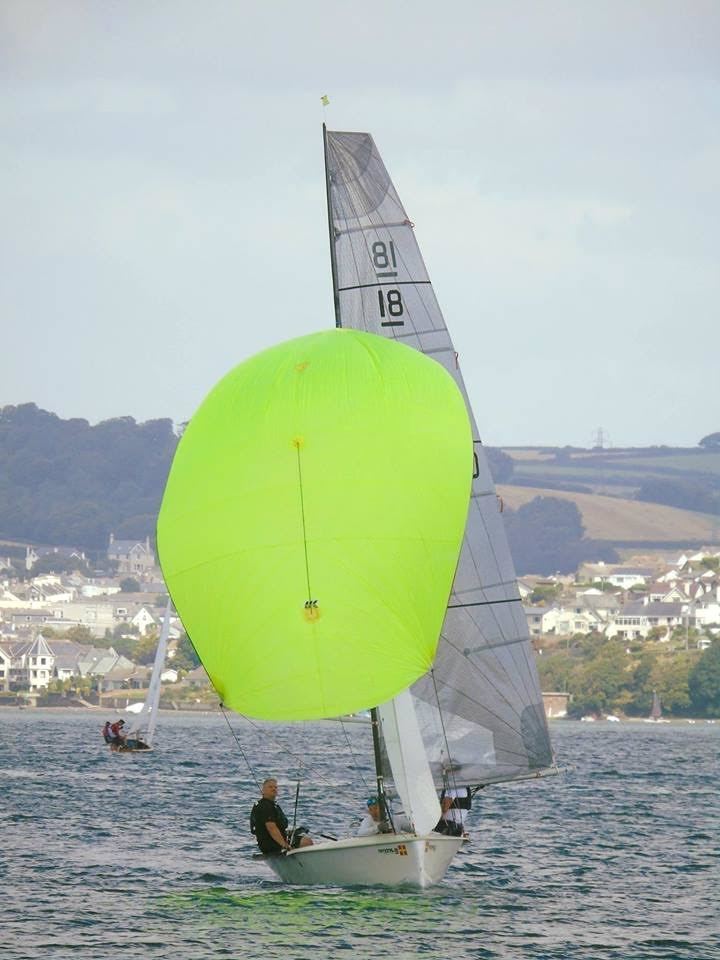 Richard  Harris second at Salcombe, Toppers 1st, 2nd and 4th