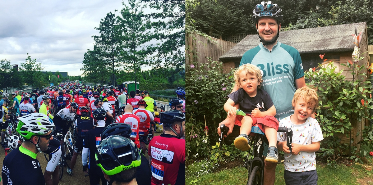 Joe McLaughlin completes the Prudential Ride London bike ride