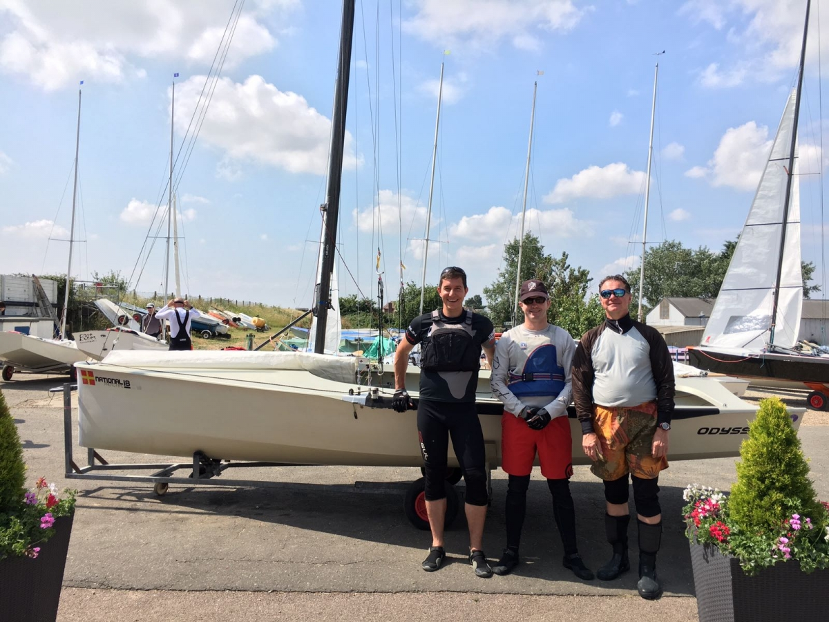 Great weekend for National 18 English Championships on the Blackwater River hosted by the Blackwater Sailing Club