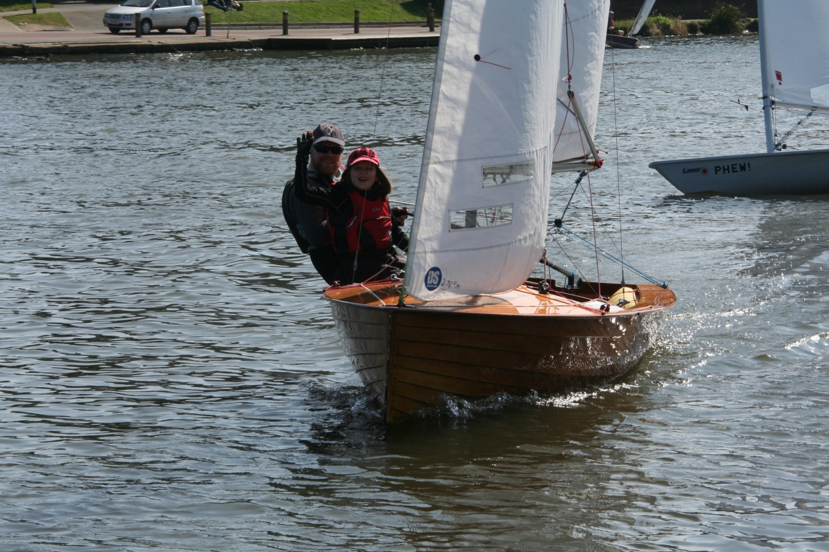 Rob and Milly Wilder win top prize at Tamesis Easter Regatta