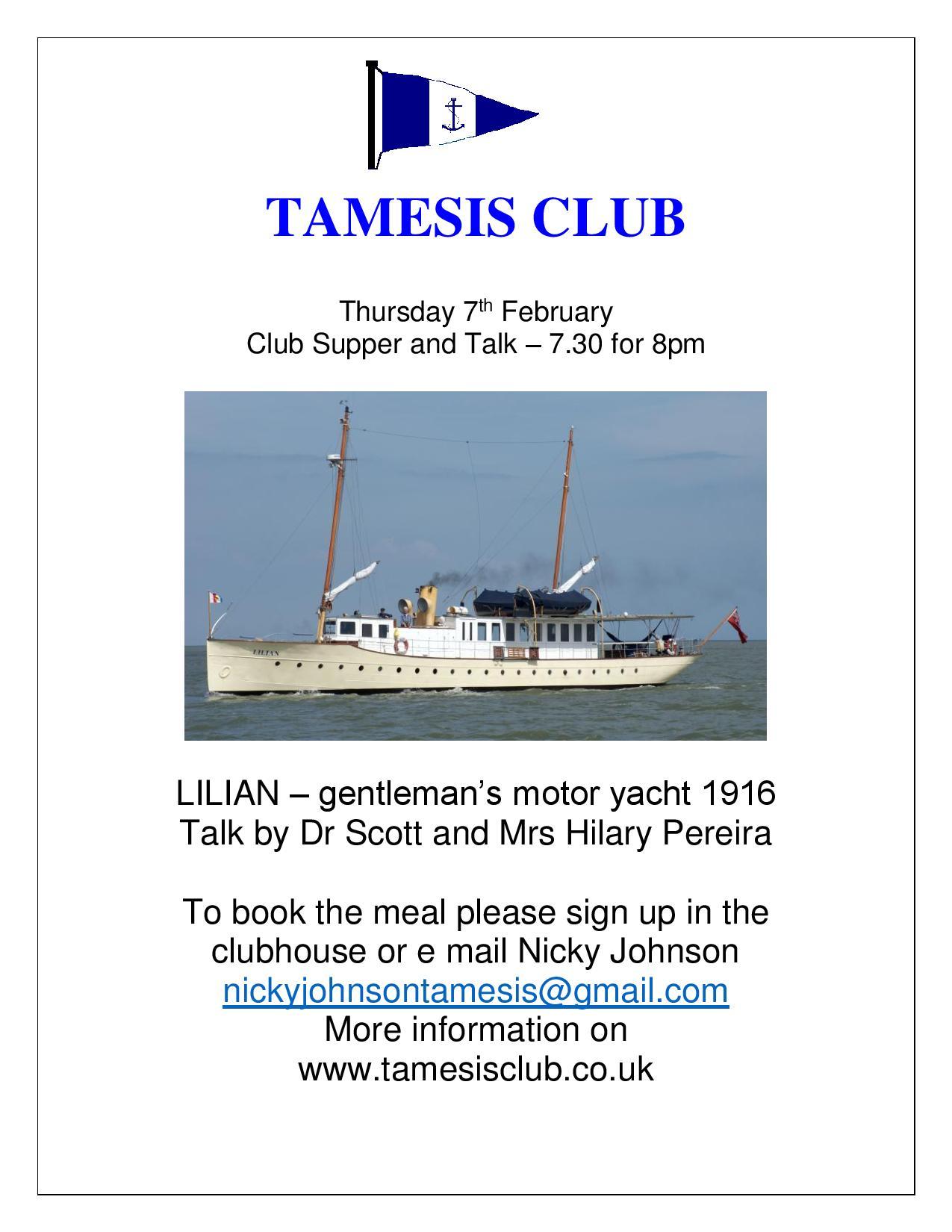 Fascinating talk on Yacht Lilian