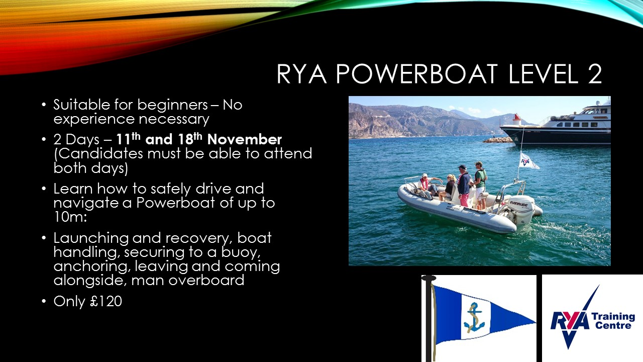 RYA Powerboat Course Level 2